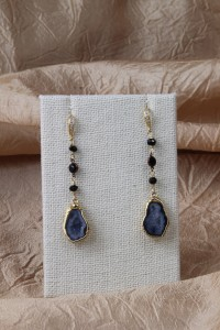 Geode teardrop earrings