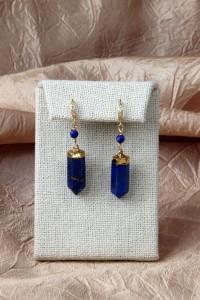 Lapis spear earrings