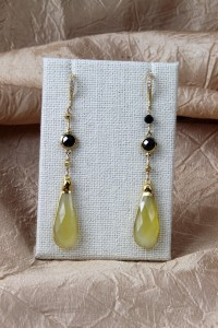 Lemon chalcedony earrings