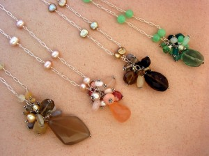 Gemstone clusters on chain